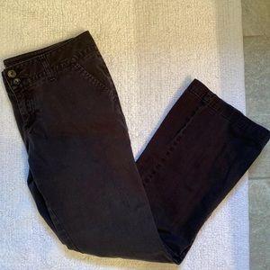 Arizona Jean Stretch Pants Boot Cut Black Khakis